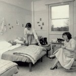 Swiss Hostel for Girls, bedroom, 1957